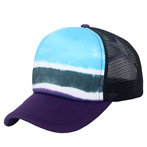 Adjustable Trucker Cap Mesh (Unisex Sublimated Print Baseball Trucker Caps Mesh Hat Adjustable Snapback Hat)
