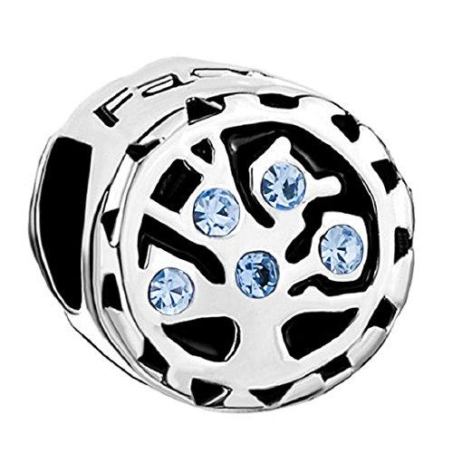 Family Tree Life Jan-Dec Birthstone 925 Sterling Silver Bead Fits European Charm (Sapphire September ()