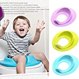 Yangiug Potty Training Seat for Toddler Boys and Girls, Fits Round & Oval Toilets, Non-Slip with Splash Guard: more info