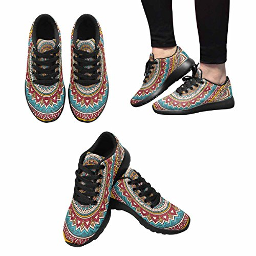 Scarpe Da Trail Running Da Donna Interestprint Jogging Leggero Sportivo Da Passeggio Sneaker Sportivo Mandala Multi 1