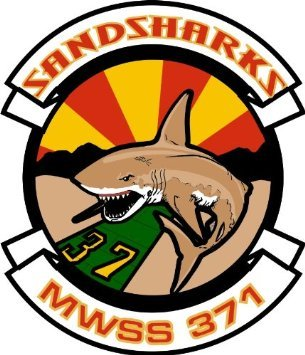 US Marine Wing Support Squadron MWSS 371 Sandsharks Decal Sticker 5.5