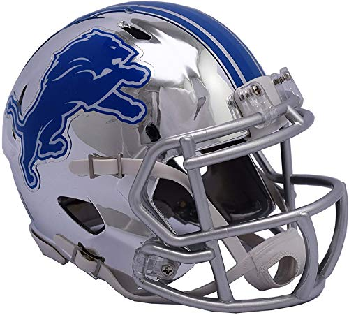 Riddell Detroit Lions Chrome Alternate Speed Mini Football H