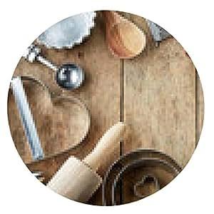 alfombrilla de ratón utensilio de cocina - ronda - 20cm
