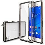 Xperia Z3 Case - Ringke FUSION Case [Free HD Film/Dust&Drop Protection][SMOKE BLACK] Shock Absorption Bumper Premium Hard Case for Sony Xperia Z3 - Eco/DIY Package (Not for Z3 Compact / Z3v / Z3 Dual)