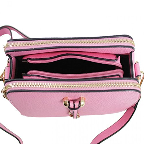 Silver Shoulder Bag 3 Cross Handbags LeahWard Quality Body Bags 818 Compartment Women's wB84tCqP