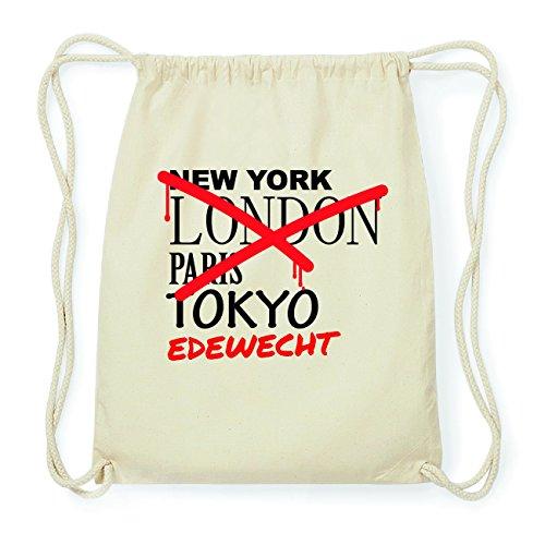 JOllify EDEWECHT Hipster Turnbeutel Tasche Rucksack aus Baumwolle - Farbe: natur Design: Grafitti
