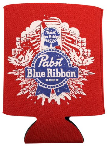 Pabst Blue Ribbon PBR 12 Oz Art Design Beer Koozie for sale  Delivered anywhere in USA