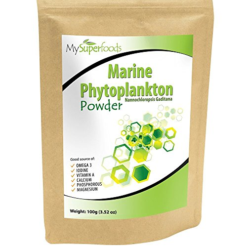 Marine Phytoplankton Powder (100g/3.5 oz) | MySuperFoods | Purest Food on Earth | Cultivated from the Deep Sea | Rich in Micronutrients | Add to Juices, Smoothies, (100 Grams Amino Balance Powder)