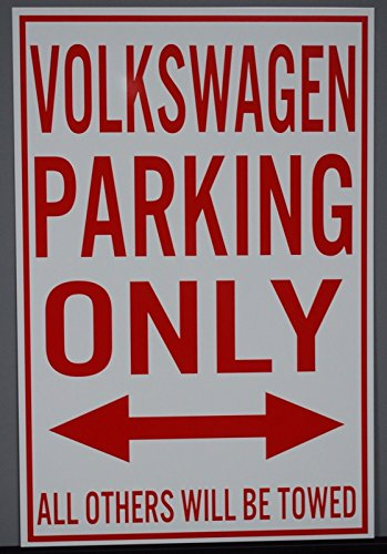 METAL STREET SIGN VOLKSWAGEN PARKING ONLY 12x18 (Volkswagen Beetle Vintage)
