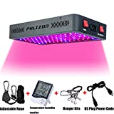 Phlizon Newest Winter 900W LED Plant Grow Light,with Thermometer Humidity Monitor,with Adjustable Rope,Full Spectrum Double Switch Plant Light for Indoor Plants Veg and Flower- 900W(10W Leds 90Pcs)