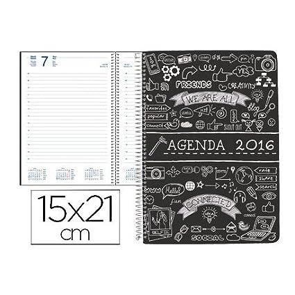 AGENDA DE ESPIRAL LIDERPAPEL ZANTE 15X21 CM 2016 DIA ...