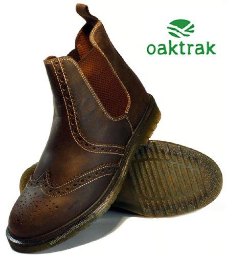 Oaktrak - brogue de cuero hombre marrón - marrón oscuro