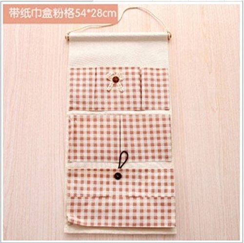 Wall-Mounted Storage Bag Door Behind Bathroom Multi-Layer Fabric Hanging Bag, A