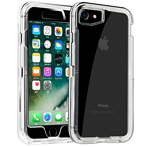Phone Case for iPhone 6/6s Heavy Duty Hybrid Crystal ClearDual Layer Rugged Cover Shockproof Shell Hard PC & Soft TPU Bumper Reinforced Corners Protective Case Design for Apple iPhone 6/6s,Clear (Natural Shell Iphone 6)