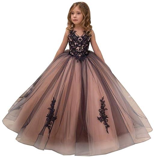 Peggy Gu Vestido de Fiesta de Boda Bordado para niños de niña ...