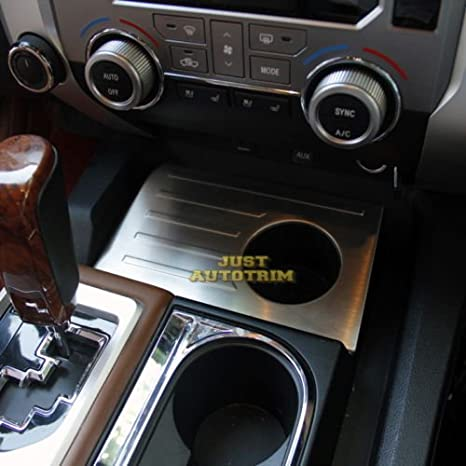 Steel Interior dashboard Cup panel cover trim for 2014-2017 Tundra  Accessories