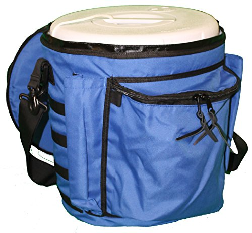 The Original Boozie Bucket - Bait Bucket/Cooler System - Ocean Blue ()