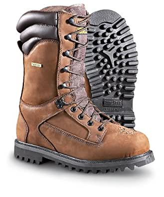 """Men's Guide Gear 11"""" 1400 gram Thinsulate Ultra Insulation Waterproof Venatic Leather Boots Brown, Brown, 12D"""
