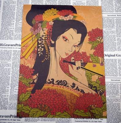 QAZZ Pintura Mural Nostalgia Estilo Antiguo Japonés Papel ...