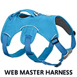 RUFFWEAR - Web Master, Multi-Use Support Dog Harness, Hiking and Trail Running, Service and Working, Everyday Wear, Blue Dusk, Small