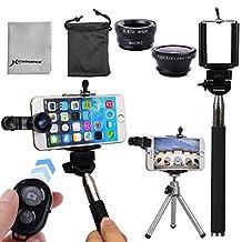 5in1 Bluetooth Shutter+Camera Lens+Selfie Monopod+Tripod Mount Holder For LG G4 G3 G2 G pro