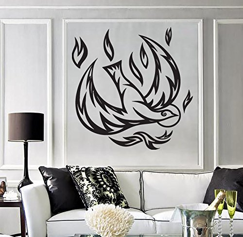 Wall Sticker Vinyl Decal Firebird Beautiful Fairy Tale Character Wings n548