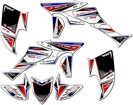 Senge Graphics Kit Compatible with Honda 2005 TRX 450R Surge Pink Graphics Kit with blank number plates