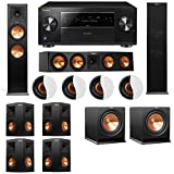 Dolby Atmos 7.2.4 Klipsch RP-280F Tower Speakers R112SW with Pioneer Elite SC-85