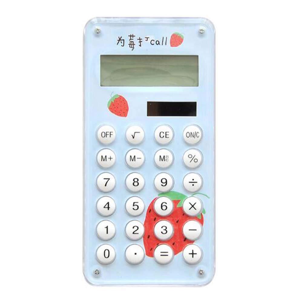 Slim Calculator Desktop Eco-Friendly Solar Calculator 8-Digit Display-A4