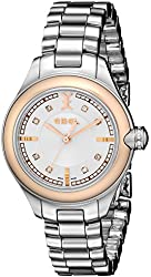 EBEL Women's 1216094 Onde Diamond-Accented Steel and Rose Gold Watch