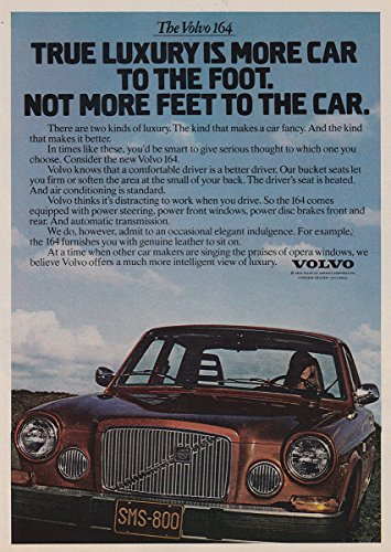 1975 Volvo 164: More Car to the Foot, Volvo Print Ad (Car Volvo 164)