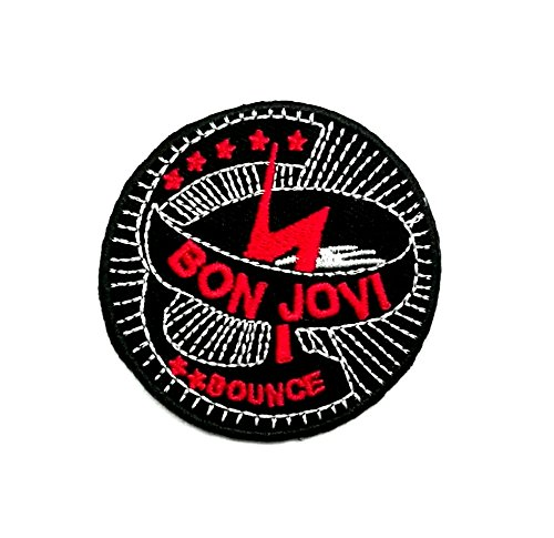 Wasuphand Bon Jovi Forever Rock Band Patch Sew On Iron Embroidered Heavy Metal Music DIY Bag Vest Gift Jeans Denim Badge Costume (Jovi Bon Patch)
