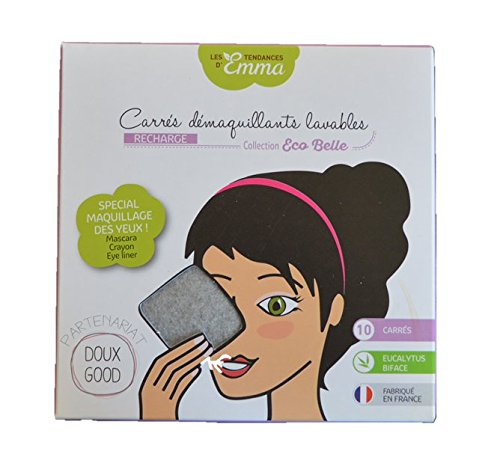 Les Tendances de Emma Lote de recarga con 10 toallitas desmaquillantes cuadradas, especial ojos, color gris: Amazon.es: Belleza