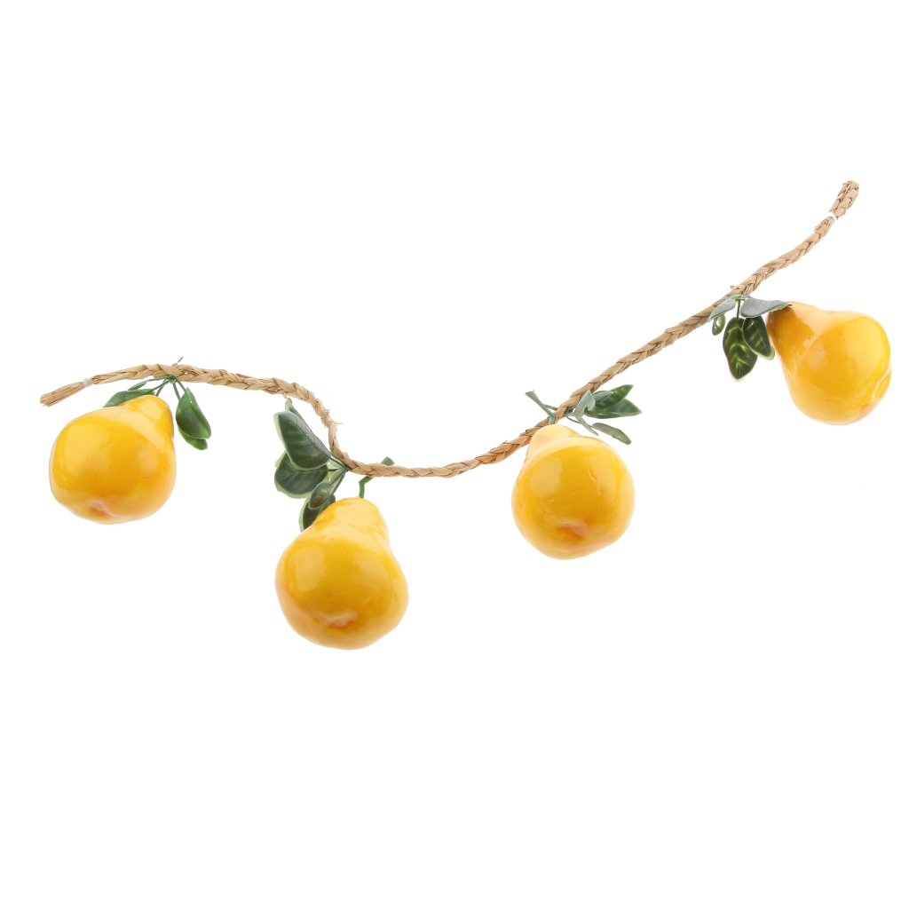 Gelb Birne Sharplace 4 St/ücke K/ünstliche Obst Gem/üse Gurke Pear Tomate K/ürbis Aubergin Birne Zitrone f/ür Hause Restaurant Dekoration