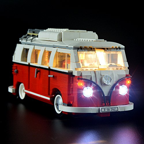 LIGHTAILING Light Set for (Creator Series Volkswagen T1 Camper Van) Building Blocks Model - Led Light kit Compatible with Lego 10220(NOT Included The Model) ()