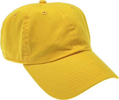 Hand By Hand Aprileo Solid Cotton Cap Washed Hat Polo Camo Baseball Ball Cap [20 Yellow](One Size)