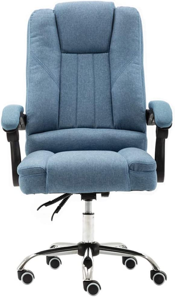 CAIS Armchair Chairs Executive Office/Computer Chair with Arms - Home Ergonomic Swivel Chair - 90°-145° Reclining - Blue