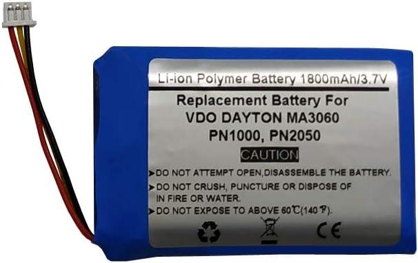 ICP1034501S1PSPM VDO Dayton HYB8030450L1401S1MPX 1800mAh//3.7V Replacement Battery for VDO Dayton PN2050 PN1000 MA3060 MS2010AUS