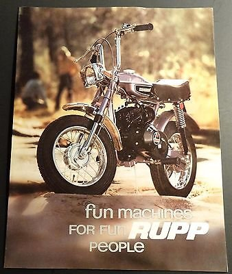 Photo VINTAGE 1971 RUPP MINI-BIKE SALES BROCHURE 12 PAGES VERY NICE (652)