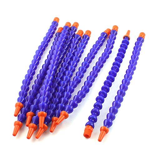 uxcell 10PCS Round Nozzle 1/4PT Flexible Oil Coolant Pipe Hose Blue ()