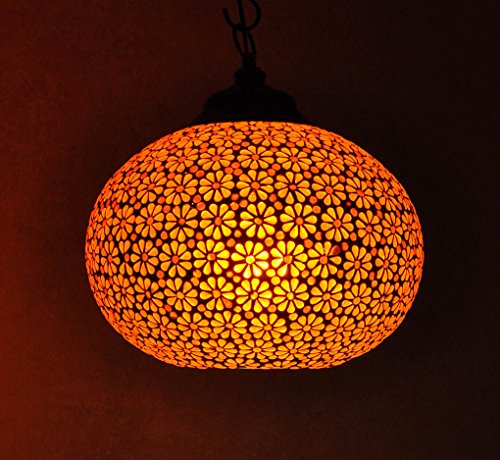 Ceiling Lamp India: Lalhaveli Indian Glass Ceiling Lamp Shades Lighting