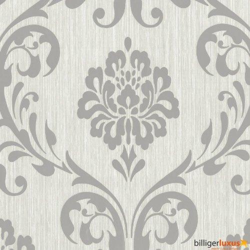 Tapete ORNAMENT Vliesapete P+S 13110-50 1311050 Barock grau silber