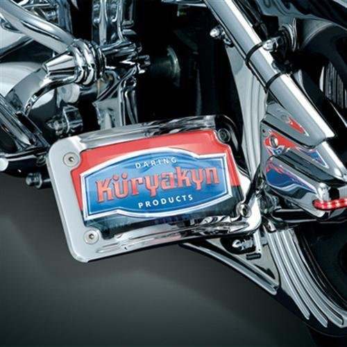 Kuryakyn Curved Horizontal Side Mount License Plate Holder