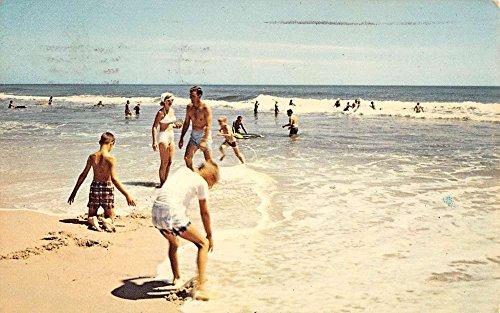 Ocean City Maryland Bathing Beach Scene Vintage Postcard K94098