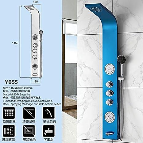 GFEI Zafiro Azul constante la temperatura ducha, grifo traje ...