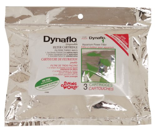 Living World Dynaflo No.1 Filter Cartridge, 3 filter cartridge Per - Filter Cartridge Change Quick
