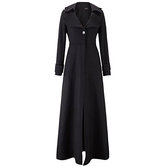 quality design 01698 c3825 Jitong Donna Cappotto Lungo Giubbotto Slim Fit Trench Giacca Maniche Lunga  Jacket