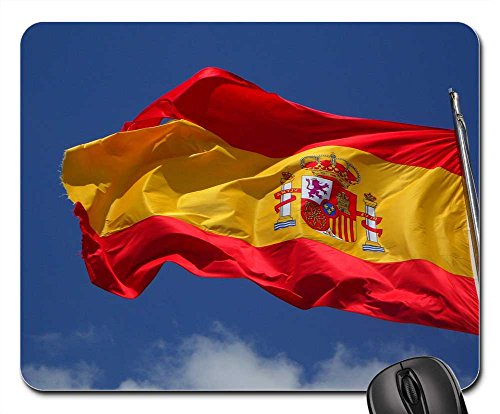 Mouse Pad - Spain Flag Flutter Spanish Cabrera Wind - To Usps Spain Shipping