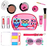 WloveTravel Pretend Play Make up Set for Children, Kids Washable Makeup Set for Girls, Educational Learning Toys for Home,Toys for Age 6 7 8 9 10 + Year Old Girls