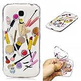 Qiaogle Phone Case - Soft TPU Silicone Case Cover Back Skin for Samsung Galaxy S4 Mini i9190 / i9192 / i9195 - HC10 / Lip gloss + eyebrow pencil